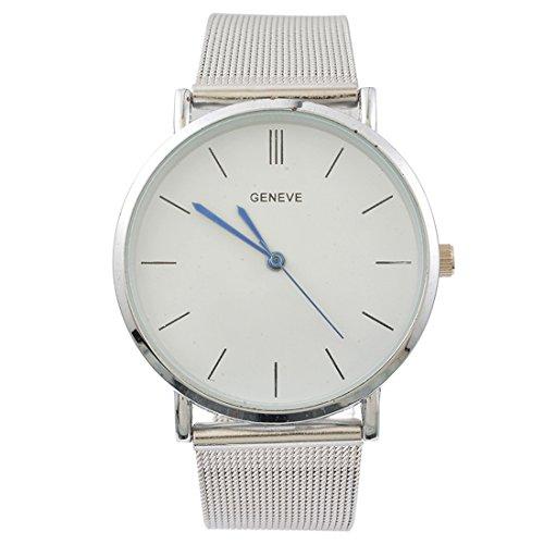 Souarts Herren Armbanduhr Geschäft Lässig Analog Uhr mit Batterie Silber Farbe