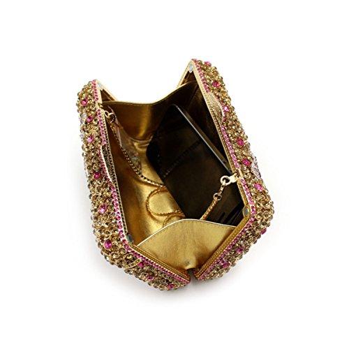 Luxus-Diamant-Abendbeutel Frauen High-End-Kristall Bankett Tasche OneColor
