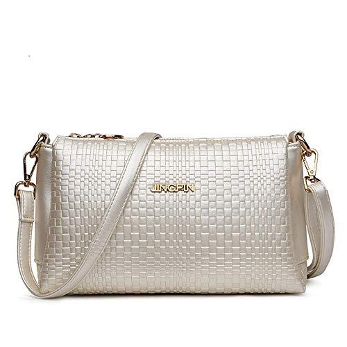 dreamcs Messenger Bags Handtasche Umhängetasche Damen Crossbody Umhängetasche Elegant Chest Pack Sling Backpack@Perlweiß -