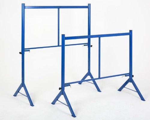 Gerüstbock 1000 kg, HxBxT 144x120x57cm, 2 Stück á 500 KG, (1000kg Gesamtbelastbarkeit) blau, (SET = 2 Stück)