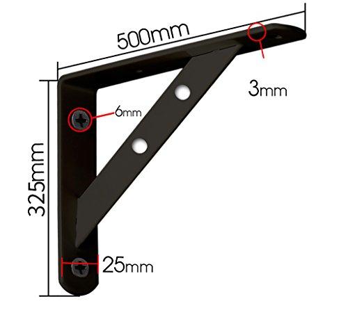Staffa per mensola in metallo montata a parete supporto per mensola triangolare in metallo staffa per supporto angolare supporto per staffa staffa per fissaggio a parete (dimensioni : 500*325mm)