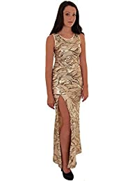 Branded Sapphire Sapphire Boutique ® Womens Sleeveless Sequin Lined Long Bodycon Side Split Sexy Formal Maxi