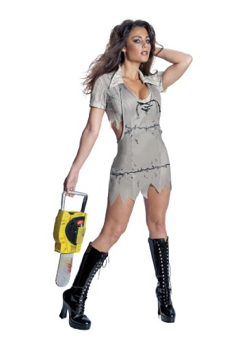 cre - Sexy Miss Leatherface Horrorkostüm Damen, 3-teilig - S (Texas Chainsaw Massacre Leatherface Maske)