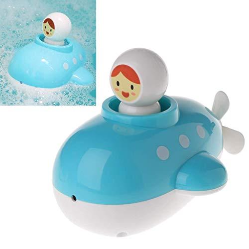 Vektenxi Baby Badespielzeug, Clockwork Float Spray Dusche U-Boot Kinder Spielen Wasserspiele Baby langlebig und praktisch
