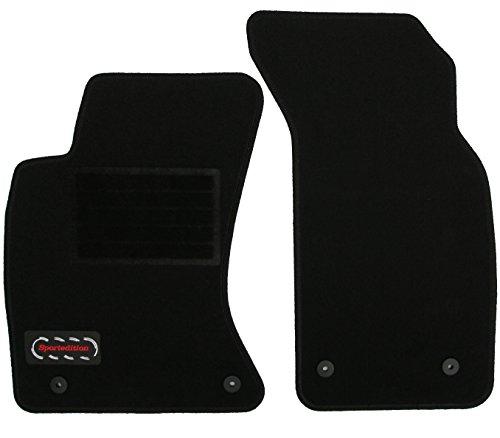 Preisvergleich Produktbild Fußmatte Autoteppich Autofußmatte Passform Velours mit Logo und schwarzer Kettelung 2tlg. A1201