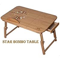 STAR Laptop Table Bamboo portable bed tray For Laptop Macbook Note Book 9 Inch To 17 Inch