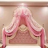 Prinzessin Krone Moskitos Netz, Betthimmel, Doppel-schicht-bettdach Für Mädchen Fliegen Insektenschutz Im Innenbereich Dekorativ-rosa Queen1