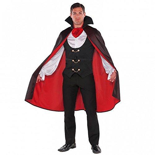 Christy 's Echter-Vampir-Kostüm für Erwachsene (M) (Malen Halloween Vampir-gesicht)
