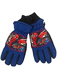 SPIDERMAN Jungen Skihandschuhe Handschuhe Winterhandschuhe 7-12 Jahre blau