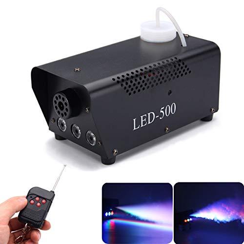 UKing Macchine del Fumo, 500W LED Festa Palcoscenico Luci Macchine del Nebbia per DJ Disco Bar Matrimoni Natale Halloween