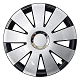 CM DESIGN NEFRYT Chrome Schwarz Silber - 15 Zoll, passend für Fast alle Mercedes Benz z.B. für A-Klasse W169