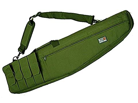 Tactical Rifle Sniper Carrying Case Gun Bag Magazine Pouch Airsoft Hunting OD
