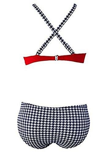YOUJIA Damen Bikini Push Up Gepolstert Süßigkeit Triangel Brasilianische Bikini Beachwear Bademode Bikini-Sets Rot