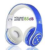 Casque sans fil Bluetooth pour enfants Casques rechargeables rétractables Écouteur...