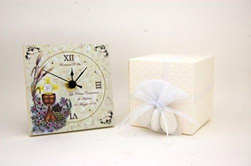 Bomboniera prima comunione orologio personalizzato calice