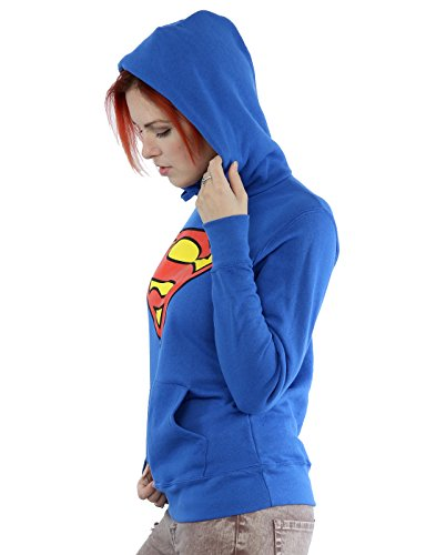 Superman Damen Kapuzenpulli Blue