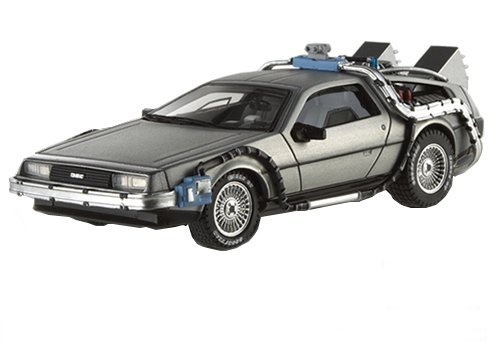 Hot Wheels 1/43 Scale diecast - X5493 Back to the Future Time Machine DeLorean
