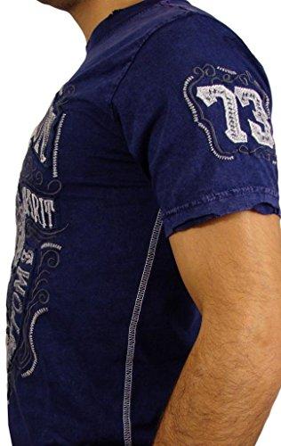 Affliction T-Shirt AC Spade Blau Blau