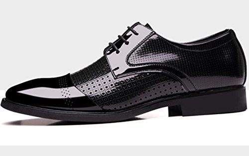 del cuoio pattini puntato cerimonia i di di di nuziale delle cuoio di degli XDGG di formato ha di affari Pelle black New singole scarpe genuino uomini casuali grande genuino England UAXPq