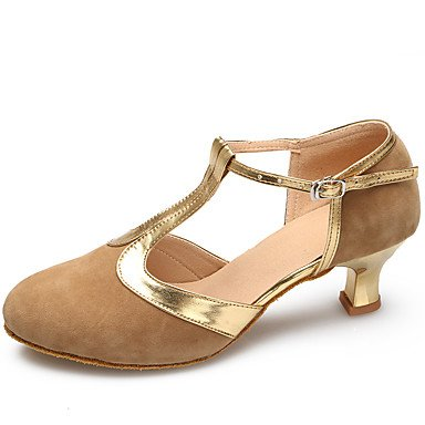 Silence @ Chaussures de danse en daim/cuir verni daim/cuir verni latine/moderne talons Stiletto Talon Practise/Indoorblack chair