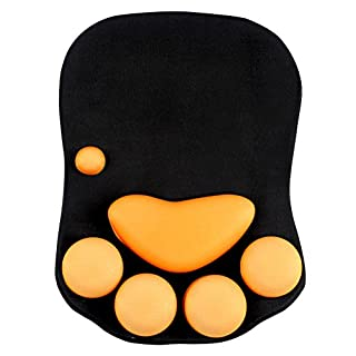 Mouse Pad Ergonomic Mouse Mat Mousepad Non-Slip Silicon Base with Wrist Support for Home Office Computer Gaming 7.8710.750.91inch Black