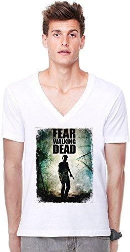 Rick Grimes Tiefer V-Ausschnitt T-Shirt -