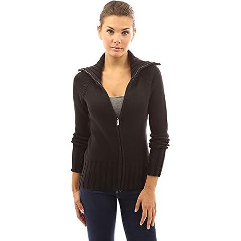PattyBoutik Donne collare cavo full zip maglia maglione