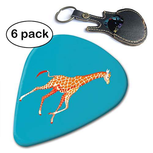 Fighwy Giraffe Gitarrenplektren (dünn, mittelschwer, extra schwer) 6 Stück .71mm weiß