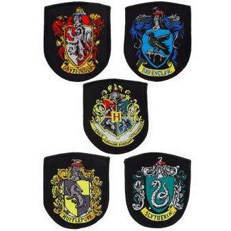 Set 5 parches Harry Potter Hogwarts