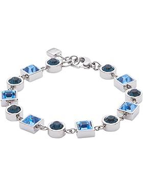 Leonardo Jewels Damen Armband Geometria Edelstahl Glas blau 18 cm   016016