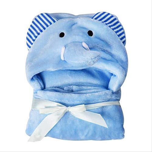 Lindo Oso Campana Suave de Dibujos Animados Animal Manta Niño Animal Bebé Bata de Baño Bebé Toallas de Baño Niños Albornoz Toalla Infantil Azul Elefante