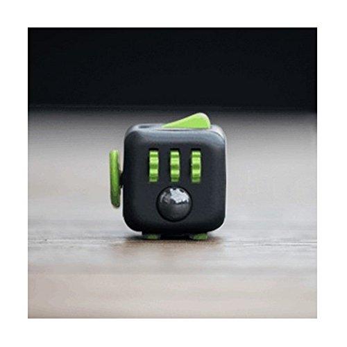 decompressione Fidget Cube anti-irritabilità ansia decompressione dice Vent Artefatto giocattoli creativi regali 6colori, Black Green, 1.3 * 1.3 IN