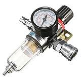 precauti 1 / 4inch Filtro compressore d'Aria Filtro separatore d'Acqua Kit Attrezzi Kit Olio separatore Acqua regolatore lubrificatore per compressore e Strumenti ad Aria