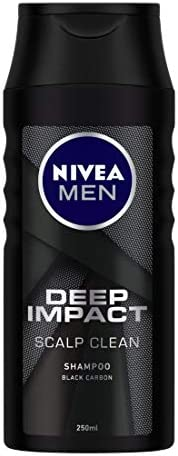 NIVEA Men Shampoo, Deep Impact Scalp Clean, 250ml
