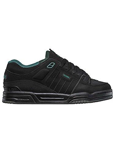 Globe Fusion, Chaussures de Skateboard homme black/black/sea green