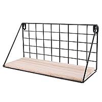 Homyl 30x11.5x14.5cm Wall Metal Wire Rack Holder for Wall Hanging Shelf Organizer