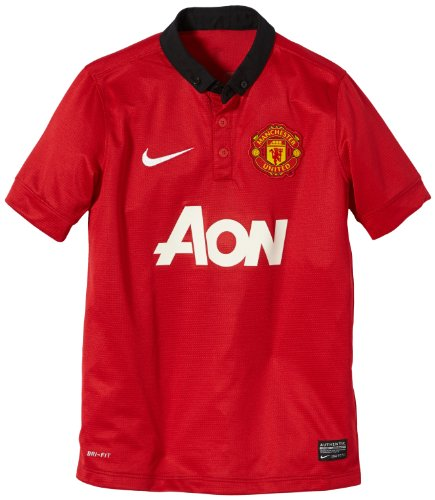 NIKE Jungen Trikot Manchester United Home Replica, Diablo Red/Black/Football White, S, 532849-624 (Home United Trikot)