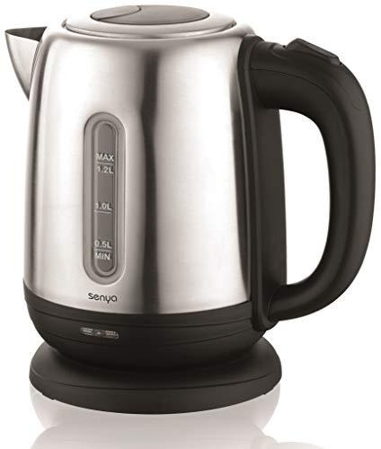 Senya bouilloire électrique Inox Little Tea Noir, bouilloire sans fil, capacité 1.2L, 1630W,...