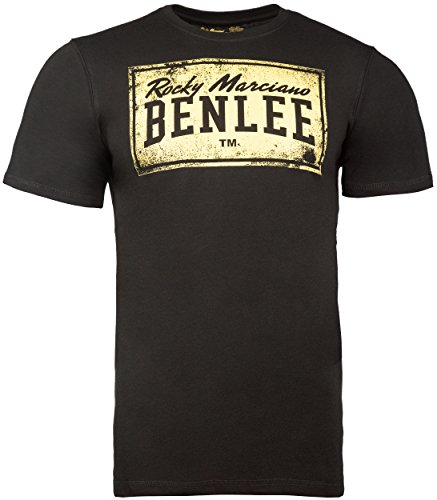 BENLEE Rocky Marciano Herren T-Shirt Trägerhemd Boxlabel, Schwarz, L