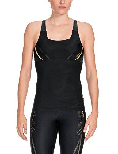 Skins ZB99330109156 Camisetas sin Mangas, Mujer, Dorado, M
