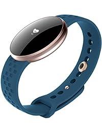 Reloj inteligente para mujer, con monitor de ritmo cardíaco, podómetro, cálculo de distancia, monitor de sueño, para iPhone o Android