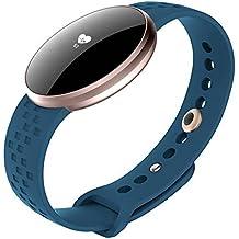 Las mujeres del reloj inteligente para Apple Teléfonos Android con Bluetooth Fitness Sleep vigilancia impermeable función de encendido protector de