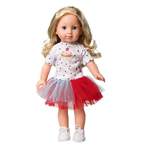 n Puppe mit lockigen blonden Haaren Blaue Augen Spielzeug Geschenkbox für Kinder ab 3 Jahren ()