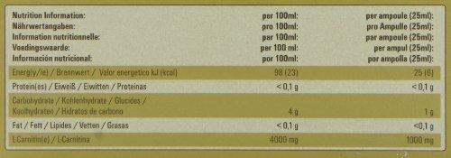 PowerBar Hochwertiges L-Carnitin Liquid – Mit 1000 mg Carnipure pro Ampulle – (20 x 25 ml)