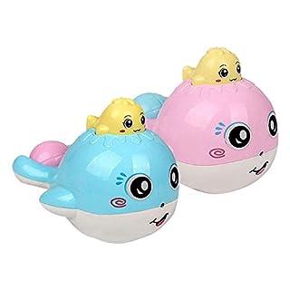 Sobotoo Baby Cute Whale Bath Toy Shower Water Spray Kid Bathtub Swimming Water Toy Random Color