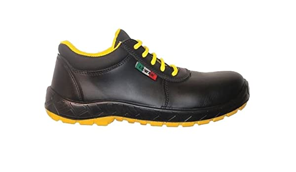 SCARPE ANTINFORTUNISTICHE PELLE NERA LEWER 409 NEW MODEL