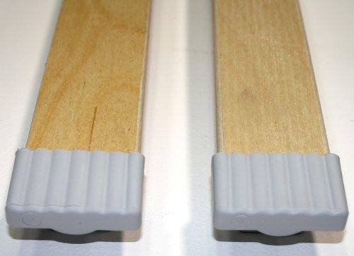 10er Stück Kautschukkappen für Federholzleisten der Stärke 8mm und Breite 50mm