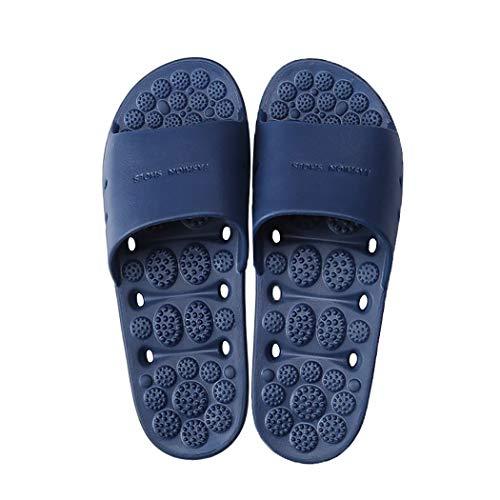 b16f2817f028 MAYI Unisex Adulto Chanclas de baño con Puntos de Masaje y diseño de  Drenaje Sandalias Antideslizantes para la Ducha Zapatillas de Playa Ligeras  ...