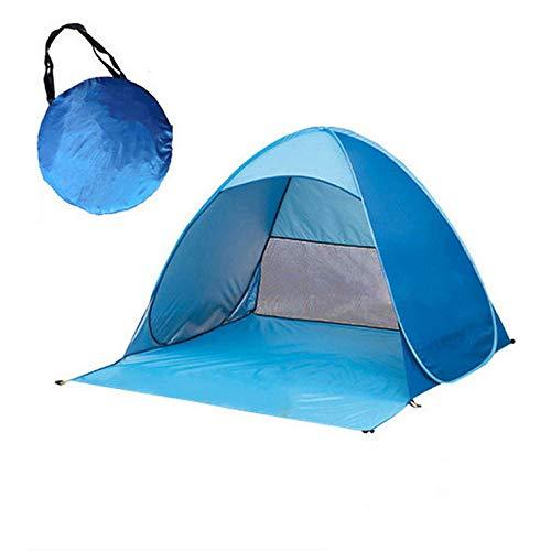LINGJIE Pop-up-Zelt UV-Licht Wasserdicht Faltbare Outdoor Beach Camping Zelt Als Sonnenschutz Kinder Familie Und Hund Im Garten Strand,Blue -