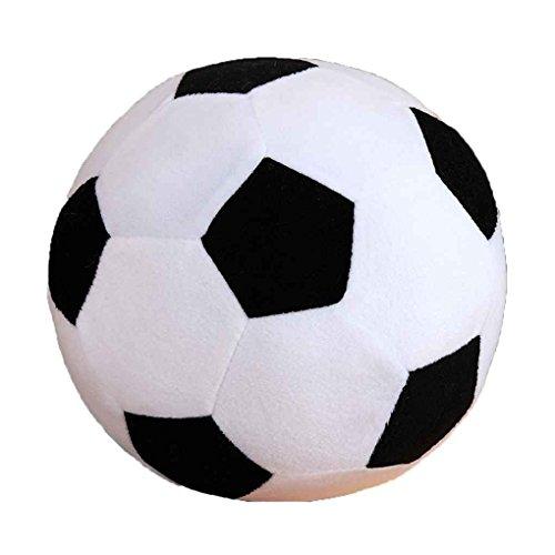 lidahaotin Cartoon-Fußball-Kissen füllen Plüsch-Baby-Fußball-Fußball-Sport-Spielzeug-Geschenk für Kinder Kleinkind Erwachsene Schwarz-Weiss 30cm (Fußball Plüsch)